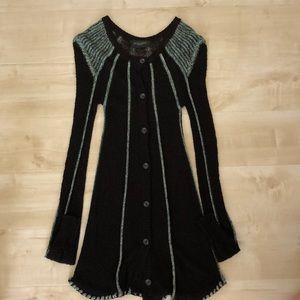 Jill Stuart Collection Black-Turquoise Sweater